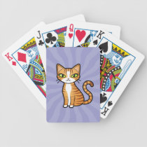 Design Your Own Cartoon Cat Bicycle Playing Cards