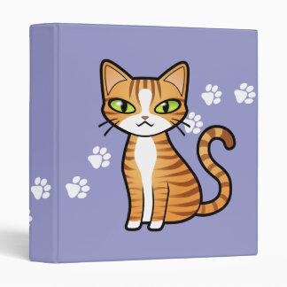 Design Your Own Cartoon Cat 3 Ring Binder
