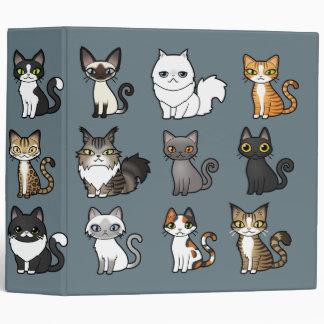 Design Your Own Cartoon Cat Vinyl Binder