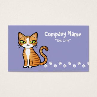 Design Your Own Cartoon Cat Business Card