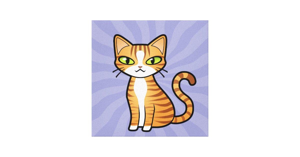 Design Your Own Cartoon Cat Canvas Print Zazzle