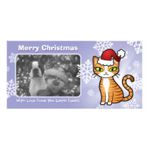 Design Your Own Cartoon Cat (Christmas) Card