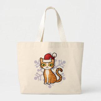Design Your Own Cartoon Cat (Christmas) Jumbo Tote Bag