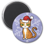 Design Your Own Cartoon Cat (Christmas) Fridge Magnet
