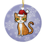 Design Your Own Cartoon Cat (Christmas) Ornaments