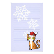 Design Your Own Cartoon Cat (Christmas) Stationery