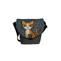 Design Your Own Cartoon Cat Courier Bag