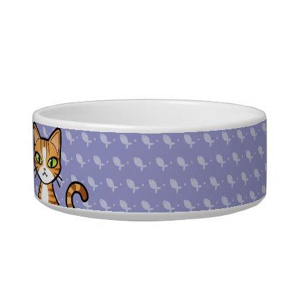 Design Your Own Cartoon Cat (customizable name) Cat Water Bowls