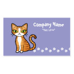 Design Your Own Cartoon Cat Double-Sided Standard Business Cards (Pack Of 100)