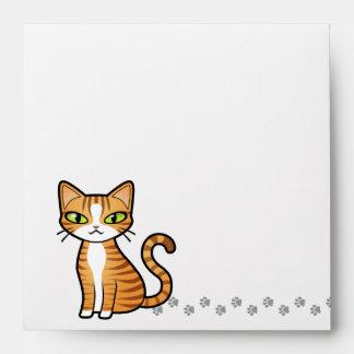 Design Your Own Cartoon Cat Envelopes
