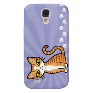 Design Your Own Cartoon Cat Galaxy S4 Cover