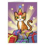 Design Your Own Cartoon Cat Greeting Card