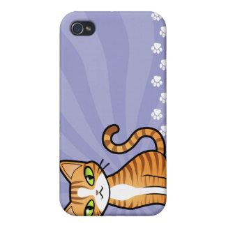 Design Your Own Cartoon Cat iPhone 4 Cases