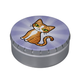Design Your Own Cartoon Cat Jelly Belly Candy Tins