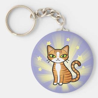 Design Your Own Cartoon Cat Basic Round Button Keychain