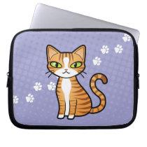Design Your Own Cartoon Cat Laptop Sleeve