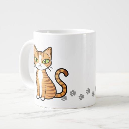 Design Your Own Cartoon Cat Large Coffee Mug Zazzle