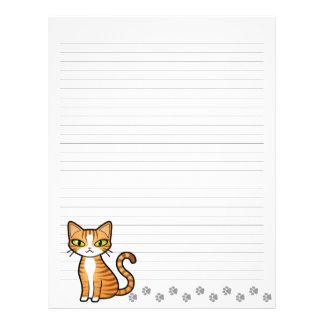 Design Your Own Cartoon Cat Letterhead