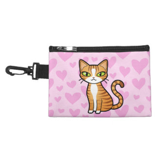 Design Your Own Cartoon Cat (love hearts) Accessories Bag
