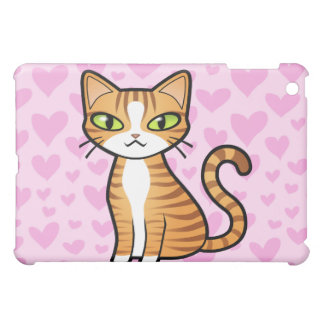Design Your Own Cartoon Cat (love hearts) Case For The iPad Mini