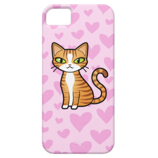 Design Your Own Cartoon Cat (love hearts) iPhone 5 Cases