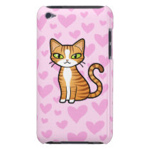 Design Your Own Cartoon Cat (love hearts) iPod Touch Cover
