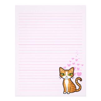 Design Your Own Cartoon Cat (love hearts) Letterhead