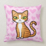 Design Your Own Cartoon Cat (love hearts) Pillows