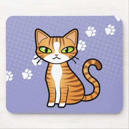 design your own cartoon cat mouse pad zazzle. Black Bedroom Furniture Sets. Home Design Ideas