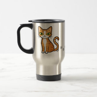 Design Your Own Cartoon Cat 15 Oz Stainless Steel Travel Mug