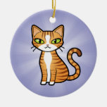 Design Your Own Cartoon Cat Christmas Tree Ornaments