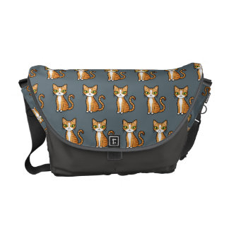Design Your Own Cartoon Cat Pattern Courier Bag