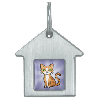 Design Your Own Cartoon Cat Pet Tags