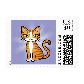 Design Your Own Cartoon Cat Stamps