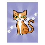 Design Your Own Cartoon Cat Postcard
