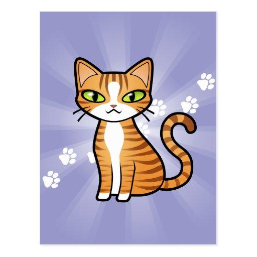 Design Your Own Cartoon Cat Postcard