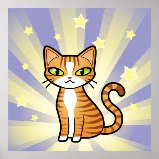 Design Your Own Cartoon Cat Poster Zazzle