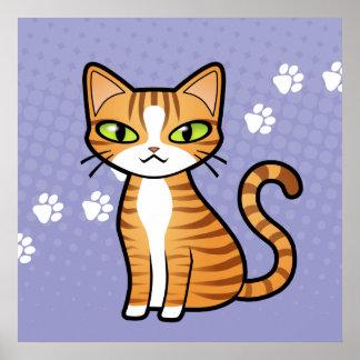 Design Your Own Cartoon Cat Poster