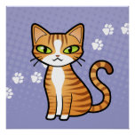 Design Your Own Cartoon Cat Print
