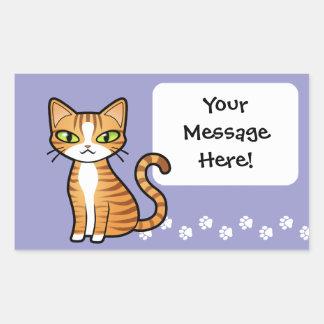 Design Your Own Cartoon Cat Rectangular Sticker