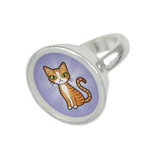 Design Your Own Cartoon Cat Ring