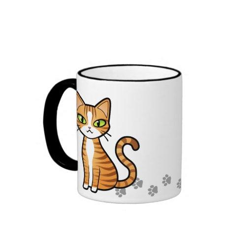 Design Your Own Cartoon Cat Ringer Coffee Mug