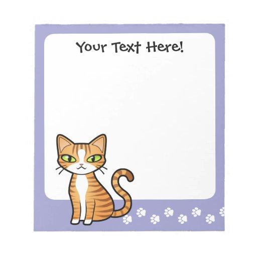 Design Your Own Cartoon Cat Scratch Pad Zazzle