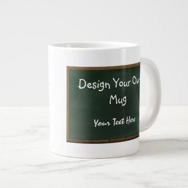 Coffee Themed Design Your Own Chalkboard Mug