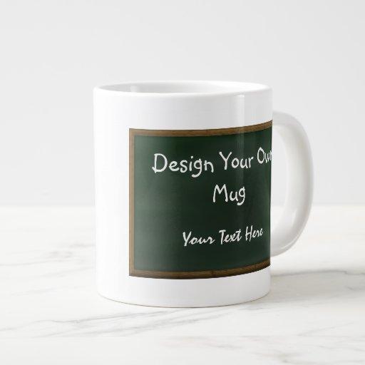 Design Your Own Chalkboard Mug 20 Oz Large Ceramic Coffee