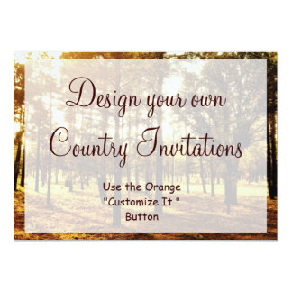 Design your Own Country Invitations Blank Template