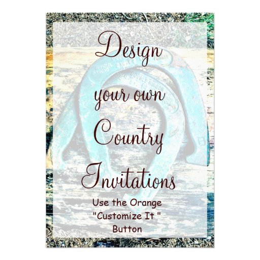 design your own country invitations horseshoes 5 u0026quot  x 7 u0026quot  invitation card