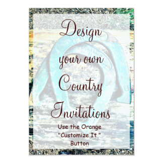 Design your Own Country Invitations HorseShoes