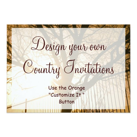 Make Your Own Wedding Invitations Ideas: Design Your Own Country Invitations Template Tree