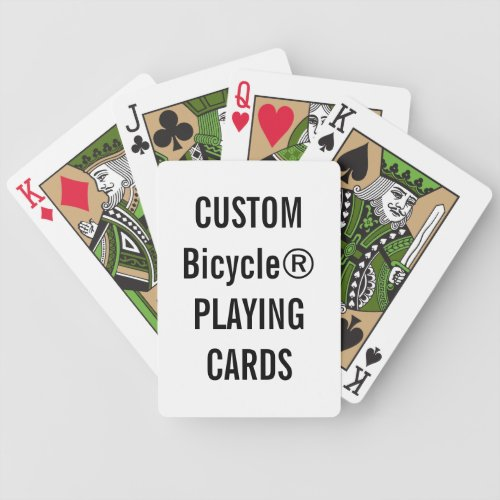Design Your Own Custom Bicycle Playing Cards